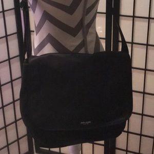 Kate Spade black nylon computer messenger bag